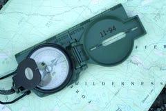 карта компаса Стоковые Фото