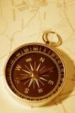 карта компаса Стоковое фото RF