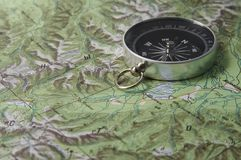 карта компаса Стоковые Изображения