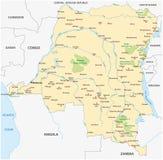 Карта Конго демократической республики иллюстрация вектора