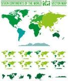 Карта континентов мира Стоковое Изображение RF