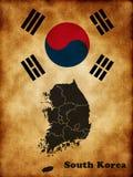 карта Кореи южная Стоковое Изображение RF