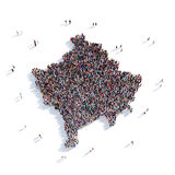 Карта Косово формы группы людей Стоковая Фотография