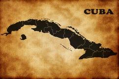 карта Кубы Стоковое Фото