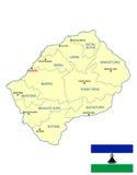 Карта Лесото Стоковая Фотография RF