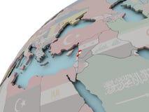 карта Ливана флага Стоковое фото RF