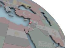 карта Ливана флага Стоковое Изображение