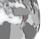 карта Ливана флага Стоковые Изображения RF