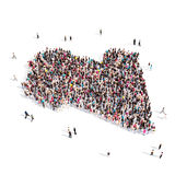 Карта Ливия формы группы людей Стоковые Фотографии RF