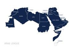 Карта Лиги арабских государств