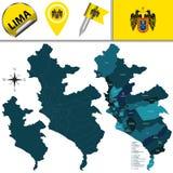 Карта Лимы с районами стоковые фотографии rf
