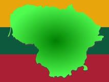 карта Литвы иллюстрация штока