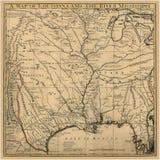 Карта Луизиана искусства предпосылки старая Стоковое Изображение RF