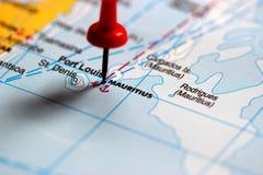 Карта Маврикия политическая с столицей Порт Луи, островами Rodrigues и Agalega и с Святым Брэндоном архипелага Стоковая Фотография RF