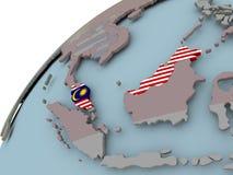 карта Малайзии флага Стоковые Изображения
