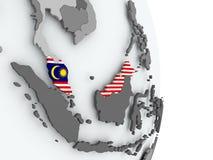 карта Малайзии флага Стоковые Изображения RF
