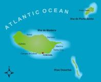 карта Мадейры Стоковое Изображение RF
