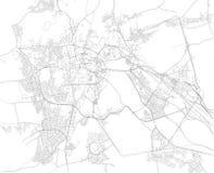 Карта мекки, Makkah город в зоне Hejazi Аравийского полуострова согласовывать greyed высоту области Аравии покрашенную зажимом вк Стоковые Фотографии RF