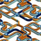 Карта метро в равновеликой проекции Стоковое Изображение