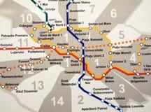 Карта метро Стоковые Изображения
