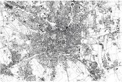 Карта милана, города, Ломбардии, Италии