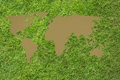 Карта мира Брайна Стоковая Фотография RF