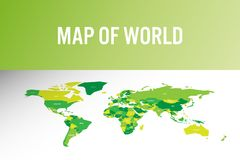 Карта мира в современном дизайне также вектор иллюстрации притяжки corel Стоковое Фото