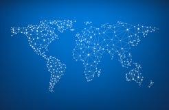 Карта мира глобальных связей Стоковые Изображения