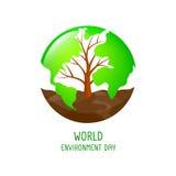 Карта мира дерева форменная с почвой бесплатная иллюстрация