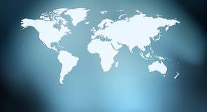 Карта мира и предпосылка светов конспекта Стоковые Изображения RF