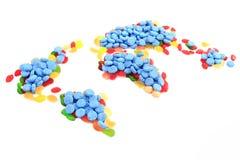 карта мира конфеты Стоковые Изображения