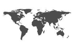 Карта мира на белой предпосылке Шаблон треугольника для нас Стоковые Фото