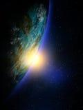 Карта мира от космоса Стоковое Изображение RF