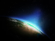 Карта мира от космоса Стоковые Изображения