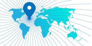 Карта мира положения Стоковое фото RF