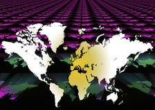 Карта мира - предпосылка цифров Стоковое Фото