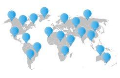 Карта мира с указателем Стоковая Фотография RF