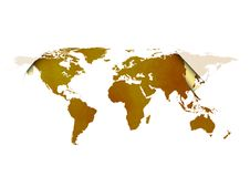 Карта мира Стоковое Изображение