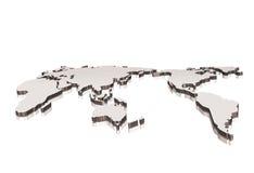 карта мира 3d Стоковое фото RF