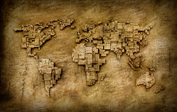 Карта мира Grunge Стоковое фото RF