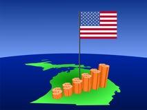 карта Мичиган диаграммы доллара иллюстрация вектора