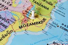 Карта Мозамбика Стоковые Фото