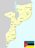 Карта Мозамбика Стоковое фото RF