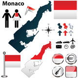 Карта Монако Стоковое Изображение