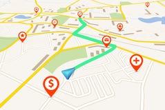 Карта навигации иллюстрация штока