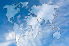 Карта неба и облаков Стоковая Фотография