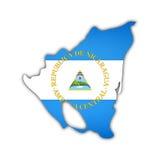 карта Никарагуа флага Стоковые Фото