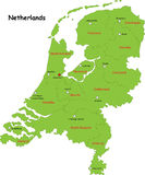Карта Нидерландов вектора Стоковое фото RF