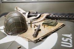 Карта Нормандии установила на клобуке военного транспортного средства Стоковая Фотография