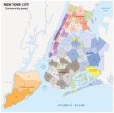 Карта Нью-Йорка административная Стоковые Изображения